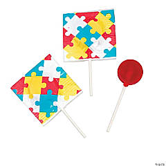 Autism Awareness Printed Lollipops