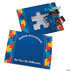 Autism Awareness Puzzle Cookie Cutters with Card