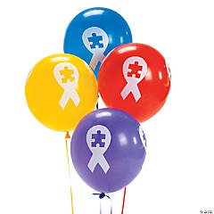 Autism Awareness Ribbon Latex Balloons