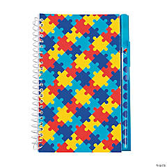 Autism Awareness Spiral Notebooks & Pens Set