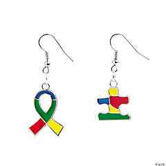 Autism Ribbon Earrings Idea