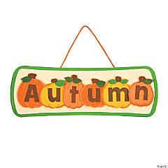 Autumn Pumpkin Sign Craft Kit