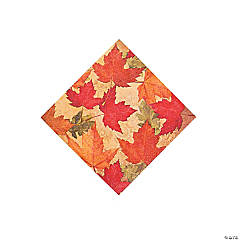 Autumn's Elegance Beverage Napkins