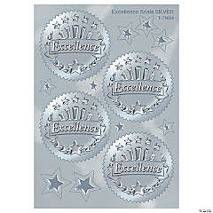 Award Seal, Excellence (Silver) - 32 per pack, 6 packs