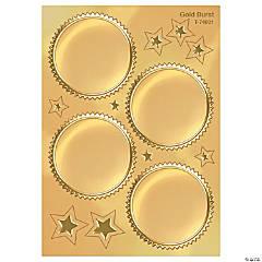 Award Seal, Gold Burst - 32 stickers per pack, 6 packs