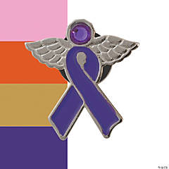 Awareness Ribbon Angel Pins
