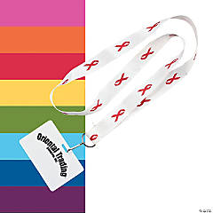 Awareness Ribbon Badge Holder Lanyards