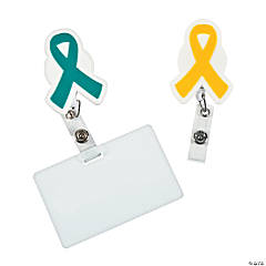 Awareness Ribbon Badge Holders