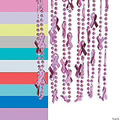 Awareness Ribbon Beaded Necklaces