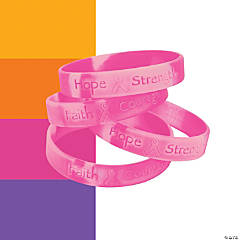 Awareness Ribbon Camouflage Rubber Bracelets