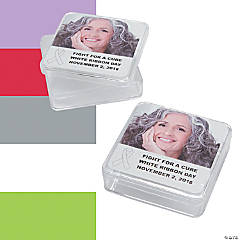 Awareness Ribbon Custom Photo Square Containers