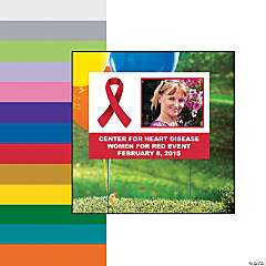Awareness Ribbon Custom Photo Yard Sign