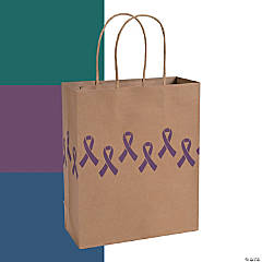 Awareness Ribbon Kraft Paper Bags