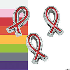 Awareness Ribbon Large Hole Spacers