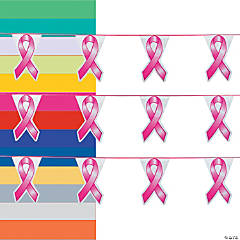 Awareness Ribbon Pennant Banner