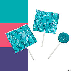Awareness Ribbon Printed Lollipops