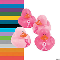 Awareness Ribbon Rubber Duckies