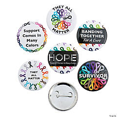 Awareness Ribbons Buttons