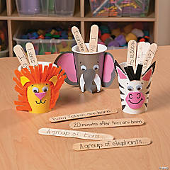 Awesome African Animals Fact Cups Craft Idea