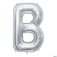 B Silver Letter Mylar Balloon
