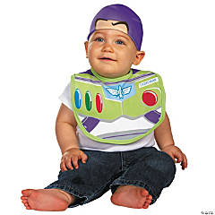 Baby Boy's Toy Story™ Buzz Lightyear Bib Costume with Hat - 0-6 Months