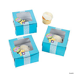 Baby Boy Shower Cupcake Boxes