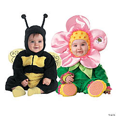 Baby Bumble Bee & Flower Costumes - 0-6 Months