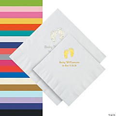 Baby Feet Personalized Napkins - Beverage or Luncheon