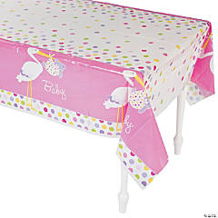 Baby Girl Stork Tablecloth