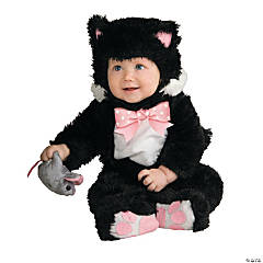 Baby Girl's Inky Black Kitty Costume