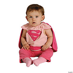 Baby Girl's Supergirl™ Bib Costume - Up to 24 Months
