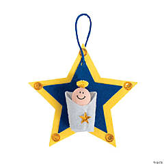 Baby Jesus Star Christmas Ornament Craft Kit