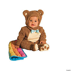 Baby Oatmeal Bear with Rainbow Blankee Costume - 6-12 Months