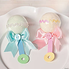 Baby Rattle Bath Fizzies Idea