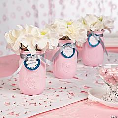 Baby Shower Pink Centerpiece Idea