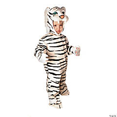 Baby/Toddler White Plush Tiger Costume