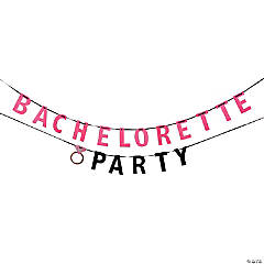 Bachelorette Party Glitter Paper Banner