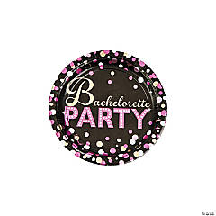 Bachelorette Party Metallic Paper Dessert Plates