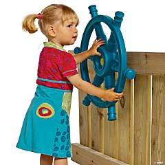 Backyard Accessories: Teal Steering Wheel