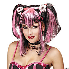 Bad Fairy Black & Pink Wig