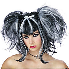 Bad Fairy Black & White Wig
