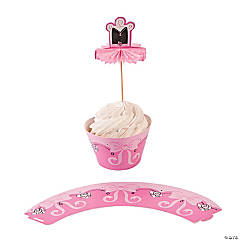 Ballerina Cupcake Wrappers with Picks