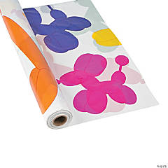 Balloon Animal Plastic Tablecloth Roll