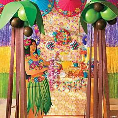 Balloon Crepe Palm Trees Idea