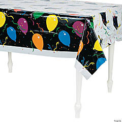 Balloon Print Graduation Tablecloth