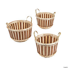 Bamboo Bushel Basket Set