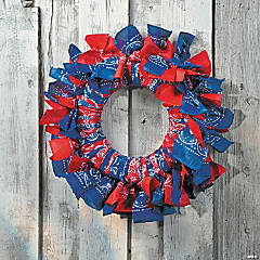 Bandana Wreath Idea