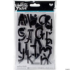 Basics Clear Stamps-Homespun Alphabet