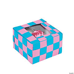 Basket Weave Cupcake Box Idea