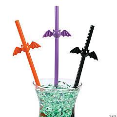 Bat-Shaped Plastic Straws